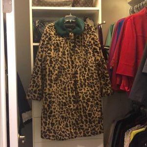 Eloquii leopard print  faux fur coat